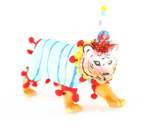 "Jumbo Party Animal  ""Sam"" the Tiger painted carnival, circus, and birthday decor"