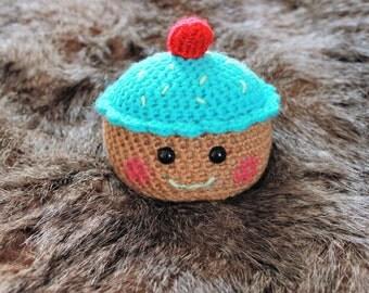 Blue Cupcake Plush, Cupcake Plushy, Stuffed Cupcake, Crochet Cupcake, Amigurumi Cupcake, Birthday Cupcake, Kawaii Cupcake, Kawaii Plushie