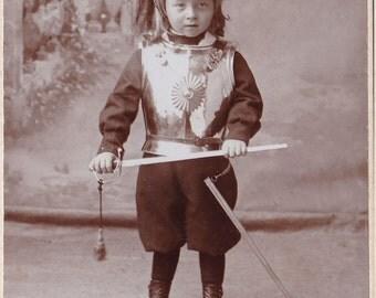 Antique CDV Photograph - Little Boy In Cavalry Uniform - Soldier