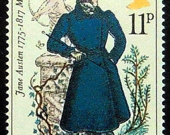 Jane Austen 1775-1817, Mr Darcy, UK -Handmade Framed Postage Stamp Art 21376AM
