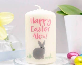 Happy Easter Candle - Easter Candle - Happy Easter Gift - Bunny Rabbit Easter Gift - Easter Present - Non chocolate easter gift