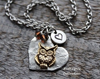 Hooty The Owl Necklace, Owl Necklace, Owl Jewelry, Bird Jewelry, Owl Gift