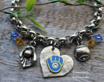 Milwaukee Brewers Bracelet, Brewers Baseball