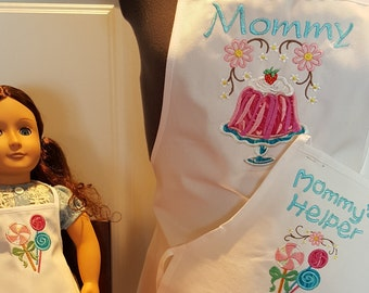 Mother/Daughter/Doll Apron set