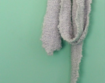 Supersoft Baby Blue Knitted Scarf / Long Scarf / Soft Hand Knitted Scarf