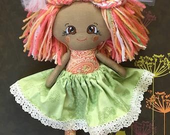 Handmade Doll - Rag Doll - Fabric Doll - Gift for a Girl - OOAK - Textile Doll - Soft Doll - Cloth Doll