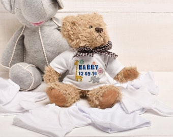 New Born, New Baby Gift, Personalised Teddy Bear, New Born Baby Gift