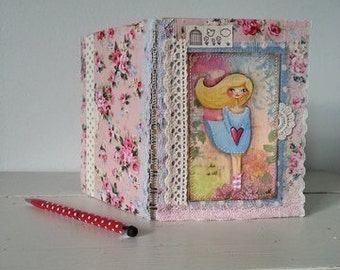Altered Notebook in Pastel