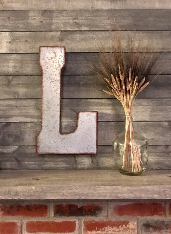 large metal letter big letter wall letters rustic decor wall decor