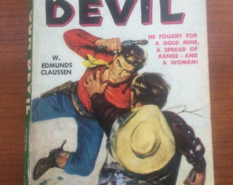 1950 Gun Devil Lion Books #28 Western Novel Paperback
