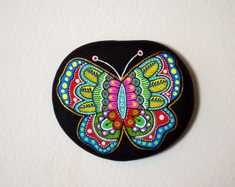 I Sassi dell'Adriatico - Hand Painted Stone (Adriatic sea) Butterfly
