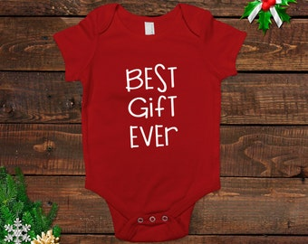 Christmas Baby Outfit - Newborn Red T-shirt - New Baby Gift