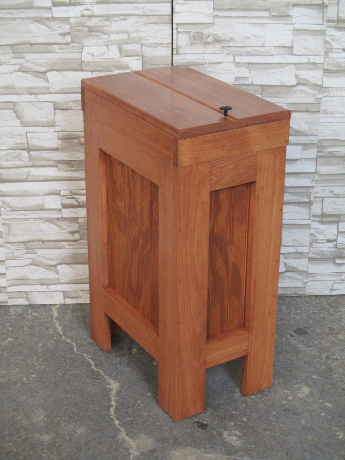 Kitchen Wood Trash Bin Wood Trash Can Wood Trash Bindog