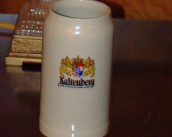 Steins, Vintage Kaltenberg - Beer from the Royal Highness Salt Glaze Stoneware German Stein, Marked 1L HERB,, German  Mug,  1980's