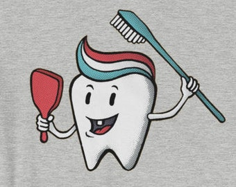 Toothpaste Quiff T-shirt Happy Teeth Cleaning Dentist