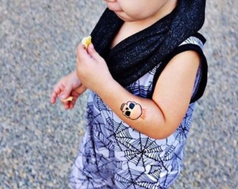 halloween costume for kids temporary tattoos for children skull with crown temporary tattoos fake tattoos cute halloween tattoos for babies