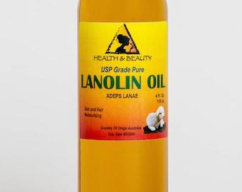 4 oz LANOLIN OIL USP Grade 100% Pure Skin Hair Moisturizing