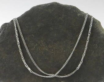 Monet Designer Chain in Silver Finish, Long Classic Chain Necklace