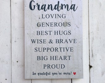 Grandma Acrostic | Pallet Effect | MDF Sign | Funny Sign | Mother's Day | Gift | Grandmother | Granny | Nan | Nanny | Nana | Nanna