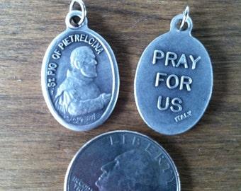 St. Padre Pio of Pietrelcina aka Francesco Forgione holy medal - Italian Catholic saint - stigmata, confessor, Capuchin