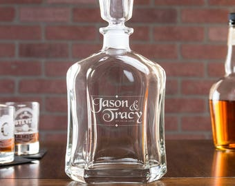 liquor decantor, whiskey decanter personalized, gift for boyfriend, wedding anniversary gift, gift for the groom
