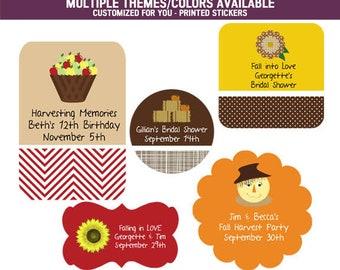 Fall Wedding Ideas - Fall Wedding - Fall Wedding Favors - Autumn Wedding - Autumn Wedding Favors - PRINTED Stickers