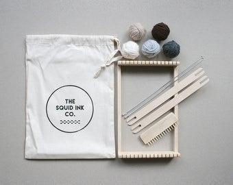 Weaving Loom Kit + Neutral Wools