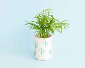 Penelope cactus porcelain vessel