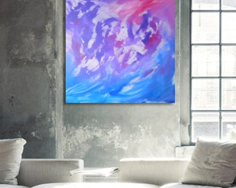 Essence - 80x80 cm, Original Abstract Paintings, acrylic on canvas, contemporary art