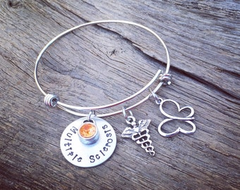 Multiple Sclerosis Bracelet | Multiple Sclerosis Jewelry | Medical Alert Bracelet | Medical Alert Jewelry | Multiple Sclerosis Awareness