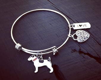 Jack Russell Charm Bracelet | Jack Russell Jewelry | Jewelry Gift For Jack Lover | Jack Russell Rescue And Foster | Adoption Transport