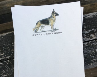 German Shepherd Dog Note Card Set