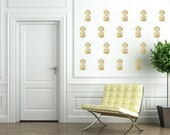 Pineapple Wall Decals - Gold Pineapple Decals - Pineapple Decor - Pineapple Wall Decal  - 44 Small Pineapples Sticker - Office Wall Decal