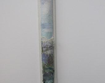 LANDSCAPE EMBROIDERY/ART -  Textile art, free motion embroidery, embroidered art, 3D  embroidery, landscape.
