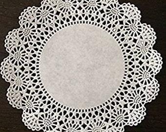 """100 ct. 5"""" White Cambridge Paper Lace Doilies Wedding Doilies Party Decor Gift Wrap"""