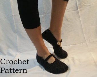 CROCHET PATTERN Lights Out Slippers (Adult: small, medium, large)
