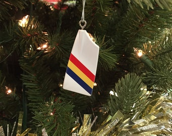 Custom Rowing Team Christmas Tree Ornament