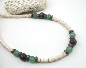 Mens necklace jade, Boys jade necklace, Mens jade necklace, jade surfer necklace, surfer choker, mens jade choker, mens jade necklace