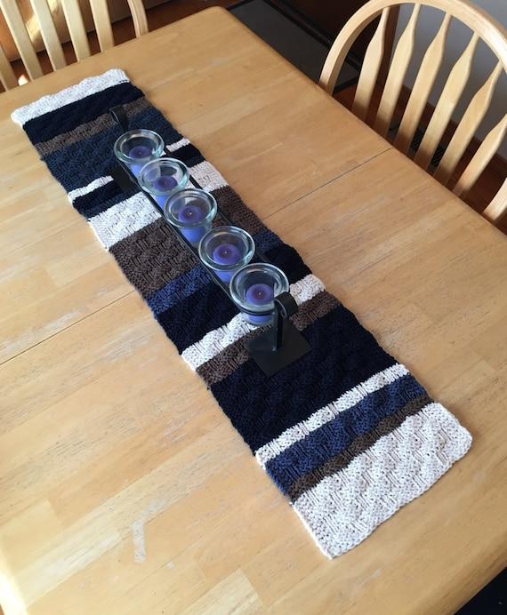 Basket Weave Table Runner Pattern : Basketweave table runner a loom knit pattern