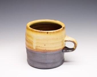Salt Fired High-Iron Stoneware Mug - Yellow Glaze, 0425028