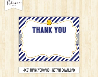 police thank you card policeman thank you card printable policemen thank you card police birthday thank you card boy police badge 204
