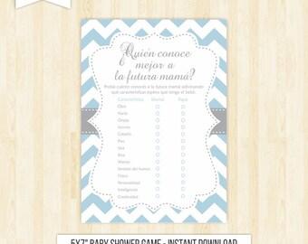 mommy best game in spanish baby shower blue espanol juegos baby shower