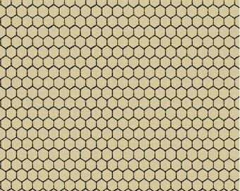 Tan Chicken Wire Fabric, Windham Country Kitchen 41214-1 Megan Duncanson, Small Chicken Wire Quilt Fabric, Chicken Fabric, Cotton