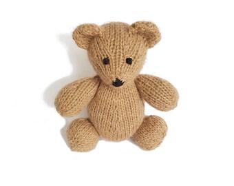 Miguel the Hand Knit Bear, Stuffed Toy, cute Bear, Handmade, Stuffed Animal, baby gift, soft bear, bear plushie, bear softie, plush bear