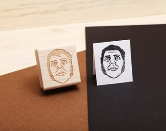 Andre the Giant - Rubber Stamp Portrait