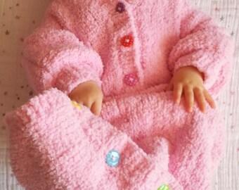 Hand Knitted Baby Girl Pink Sleeping Bag-Baby Sleep Cocoon-Sleep Sack-Hooded Sleeping Bag-6-12 months-Baby Blanket-Baby Wear-Baby Hand Knit