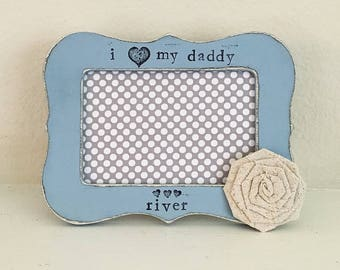 Father's Day gift, Father's Day picture frame, I love my daddy gift, First Father's Day, Daddy's girl personalized picture frame