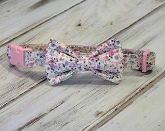 Mini Flowers Dog Collar Bow Tie set, pet bow tie, collar bow tie, wedding bow tie