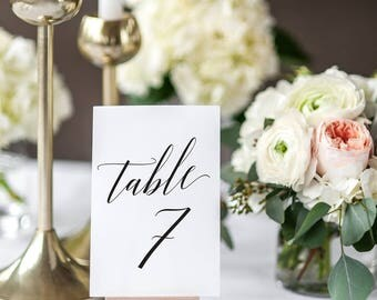5x7 Wedding Table Numbers, Wedding Table Decor, Wedding Table Numbers Printable, Table Numbers Wedding, INSTANT DOWNLOAD, KKD_102