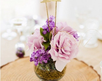 """3"""" Gold or Silver Table Numbers for Wedding or Special Event."""